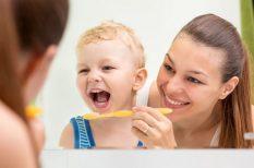 fog, fogkefe, gyerekkor, mosoly, szájápolás