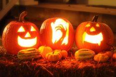 gyerek, halloween, játék, töklámpás, verseny, vetélkedő
