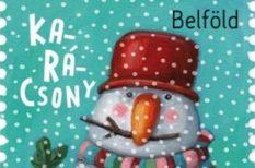 2018, hóember, karácsony, Szalma Edit, új bélyeg