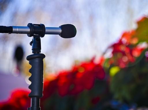 Karácsonyi mikrofon, Kép: pixabay