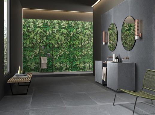 Nagy burkolólapok a fürdőszobában, Kép: újHÁZ Centrum