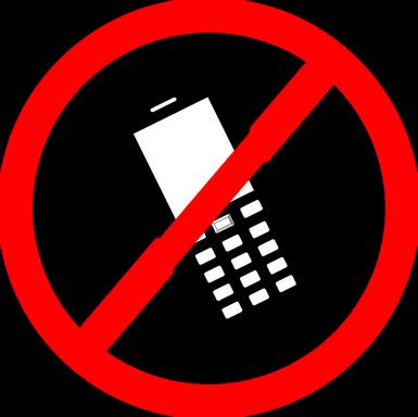 Telefonálni tilos tábla, Kép: pixabay