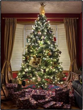 Feldíszített karácsonyfa, Kép: Megyeri Szabolcs