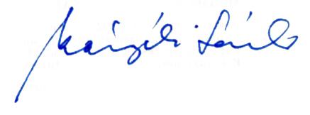 Kányádi Sándor aláírása, Kép: wikipedia