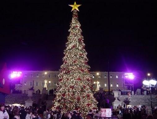 Köztéri karácsonyfa Athénban, Kép: Megyeri Szabolcs