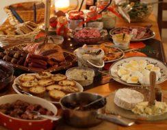 karácsony, kémia, kenyér, konyha, pezsgő, sült hús, ünnep