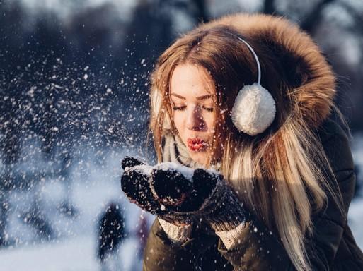 Női arc télen, Kép: Natics