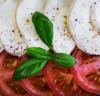mozzarella, olasz konyha, paradicsom, vörösbor