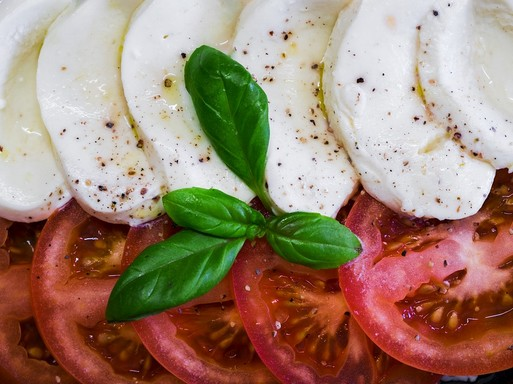 Paradicsomos mozzarella, Kép: pixabay