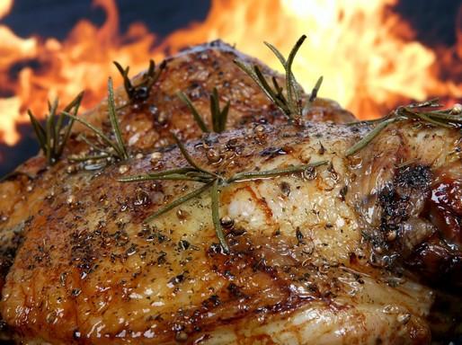 Sült hús közeli