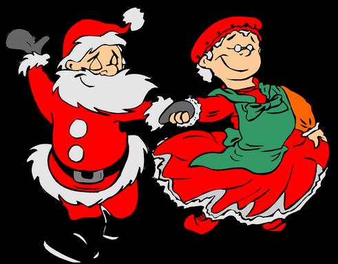 Télapó és felesége grafika, Kép: pixabay