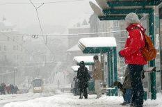 havazás, hideg, kettős fronthatás, sarkvidéki levegő, tél, zord idő