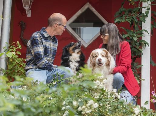 Házaspár kutyákkal, Kép: Boehringer Ingelheim