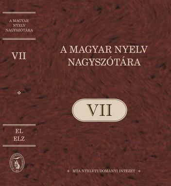 Szótár, hetedik kötet, Kép: MTA