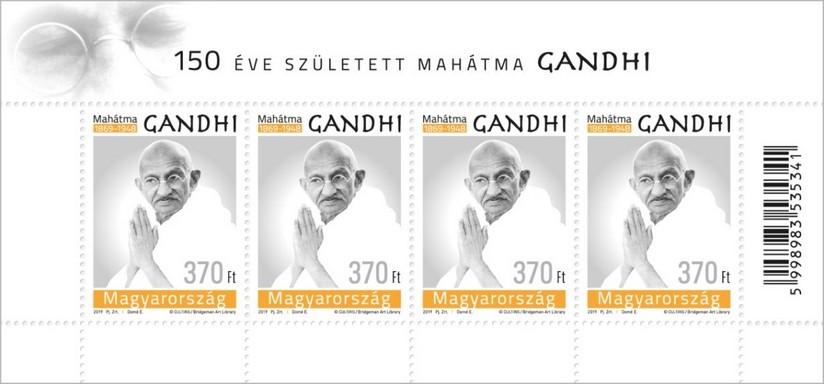 Gandhi bélyeg, Kép: Magyar Posta