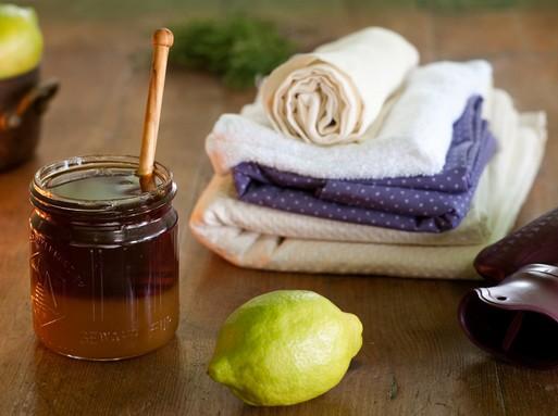 Méz, citrom, törölközők, Kép: weleda