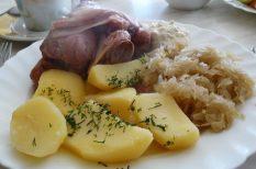 alma, babérlevél, mikorhullámú sütő, savanyú káposzta
