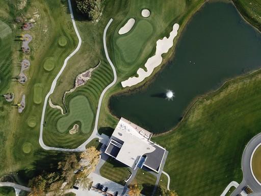 Zalai golfpálya egy drónról, Kép: Zala Springs