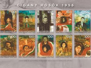 Cigány hősök, bélyeg, Kép: Magyar Posta