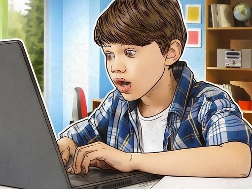 Gyerek a számítógép előtt, grafika, Kép: Kaspersky-Blog