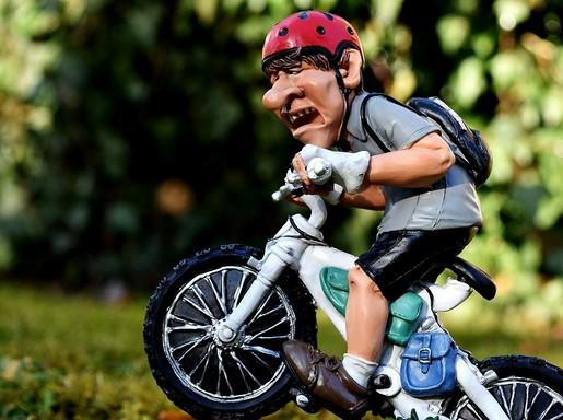 Kerékpározás, tréfás, Kép: pixabay