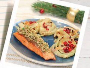 Mogyorós lazac édeskömény salátával, Kép: PParchív