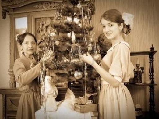 Múlt századi karácsonyfadíszítés, Kép: Megyeri Szabolccs
