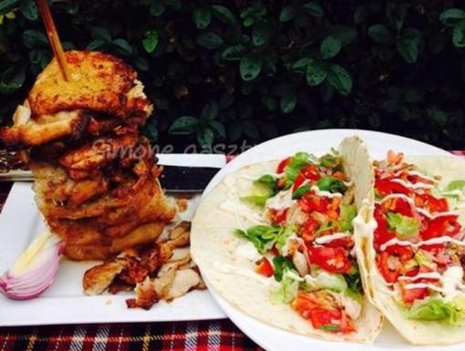 Dürüm csirkehúsból, Kép: Pammer Lívia