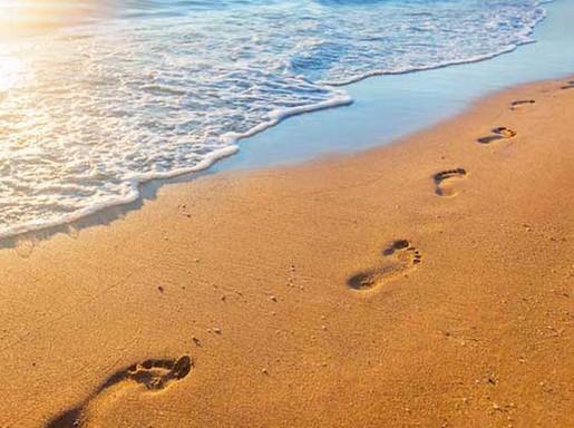 Demencia, lábnyomok a vízbe, Kép: felejtek.hu
