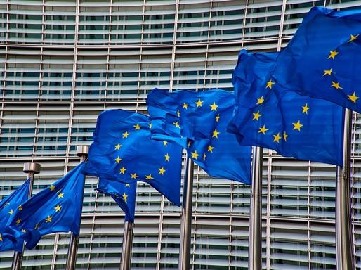 Európai lobogók Brüsszelben, Kép: pixabay