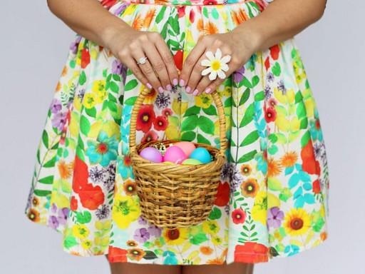 Kislány, kezében kosár húsvéti tojásokkal, Kép: pixnio