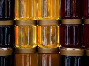 Mézes üvegek, Kép: pxhere