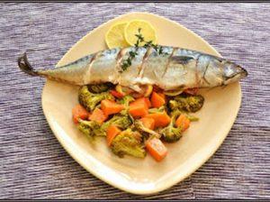 Makréla és zöldség, Kép: Steffel Csaba