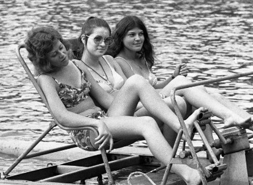 Vízibicikli 1973-ban, Kép: Skanzen