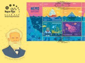Verne alkalmi boríték, Kép: Magyar Posta