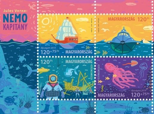 Verne bélyegkisív, Kép: MagyarPosta