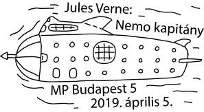 Verne bélyegző, Kép: Magyar Posta