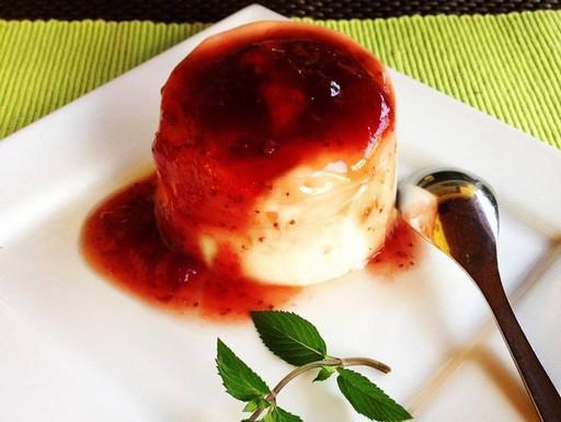 Pannacotta epervelővel, Kép: Pammer Lívia