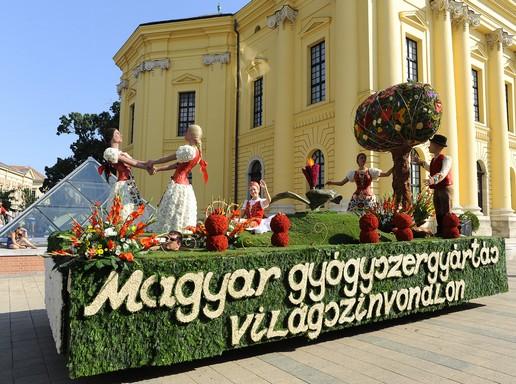 Debreceni virágkocsi 2013-ban, Kép: teva