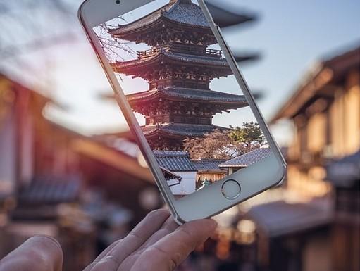 Japán templom mobilon, Kép: pixabay