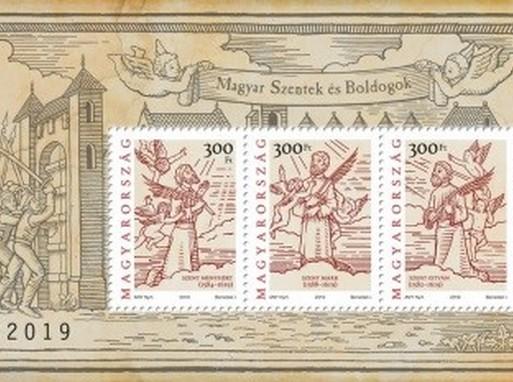 Magyar szentek és boldogok bélyegblokk, Kép: Magyar Posta