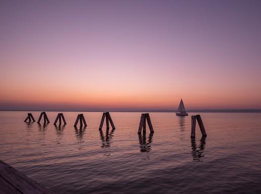Naplemente a Fertő tónál, Kép: pixabay