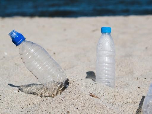 PET-palackok a homokban, Kép: jofogas.hu