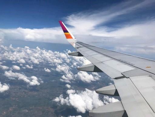 Repülőgép szárnya, Kép: pexels