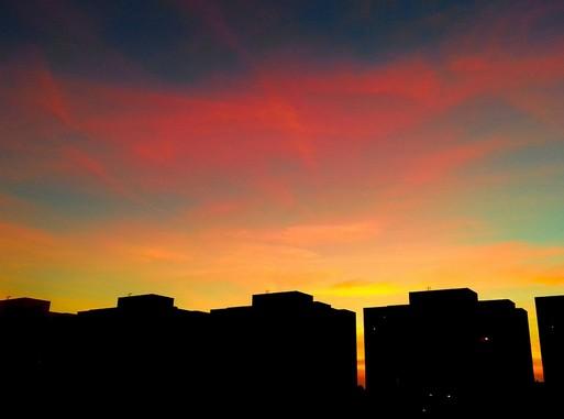 Debrecen naplementében, Kép: pixabay