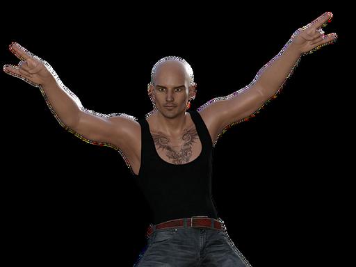 Sportos férfi, Kép: pixabay