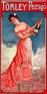 Törley pezsgő plakátja, Kép: wikimedia