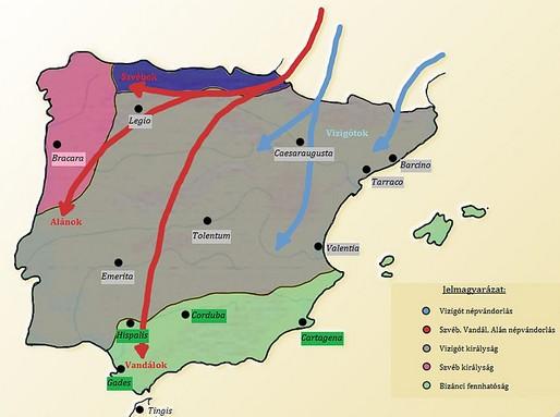 Germán népvándorlás és a Vizigót királyság, Kép: wikipedia