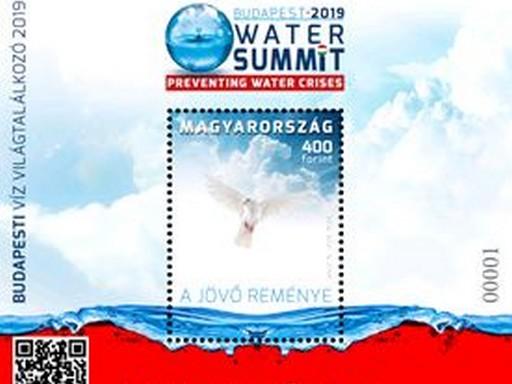 Víz világtalálkozó, bélyegblokk, Kép: Magyar Posta