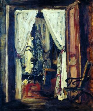 Munkácsy, Párizsi szobabelső, 1877, Kép: wikimedia